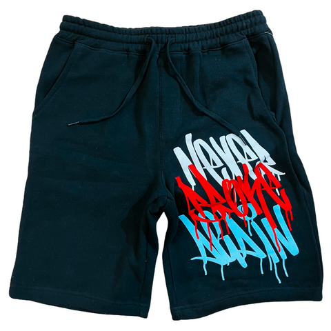 NBA 'Graffiti' Fleece Shorts (Black)