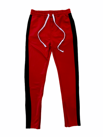 HUGE Track Pants (Red/Black)