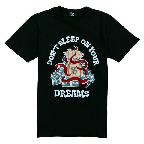 Camp 'Don't Sleep On Your Dreams' T-Shirt (Black)