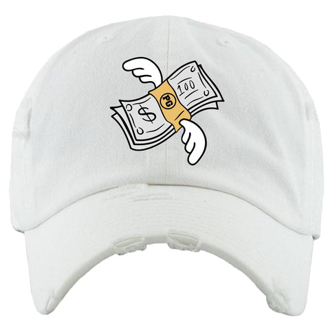 PG Apparel Flying Money Dad Hat - White - Fresh N Fitted