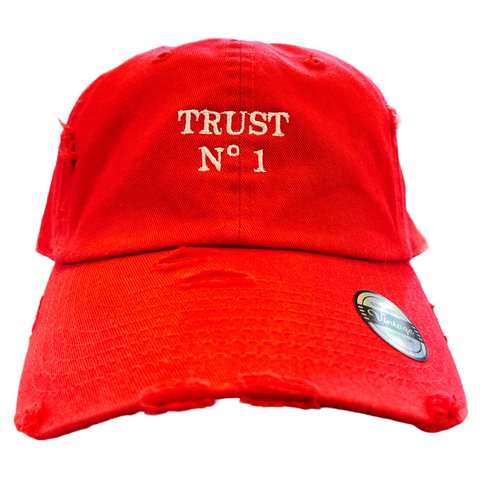'Trust No 1' Dad Hat (Red)