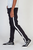 KDNK Side Stripe Printed Jeans (Black/White)