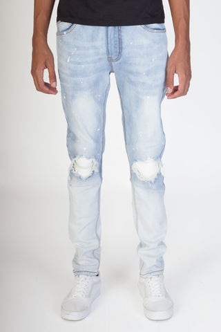 KDNK Pintucked Patched Jeans (Blue)