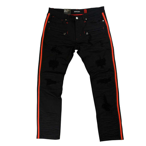 Makobi 'Majorca' Denim (Black/Red)