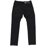 Makobi 'Fire Shredded' Denim (Black)