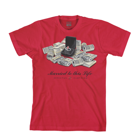 Effectus 'Married' T-Shirt (Red)