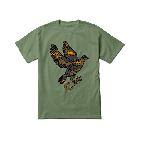 Yumm 'Earth Camo Dove' T-Shirt (Military Green)