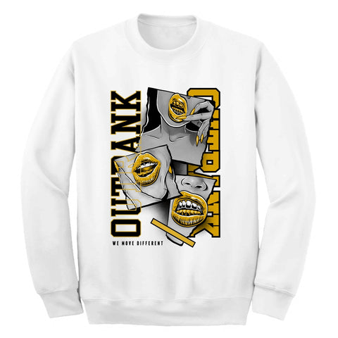 Outrank 'We Move Different' Crewneck (White)