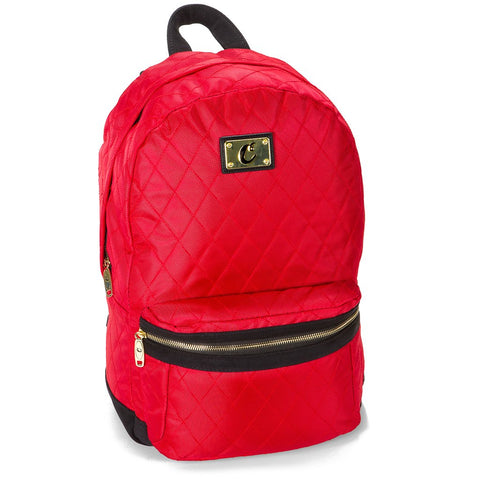 COOKIES V3 QUILTED NYLON SMELL PROOF BACKPACK W/ MICRO SUEDE & GOLD TRIM (1536A3335)