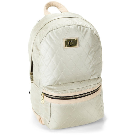 COOKIES V3 QUILTED NYLON SMELL PROOF BACKPACK W/ MICRO SUEDE & GOLD TRIM (1536A3335) - Fresh N Fitted