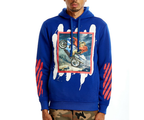 Rebel Minds Motor Hoodie (Royal)