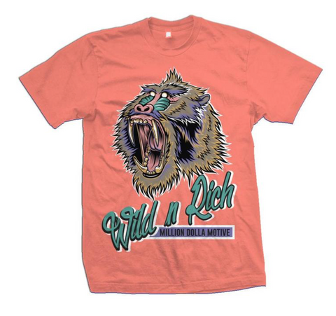 Million Dolla Motive 'Wild N Rich' T-Shirt (Coral)