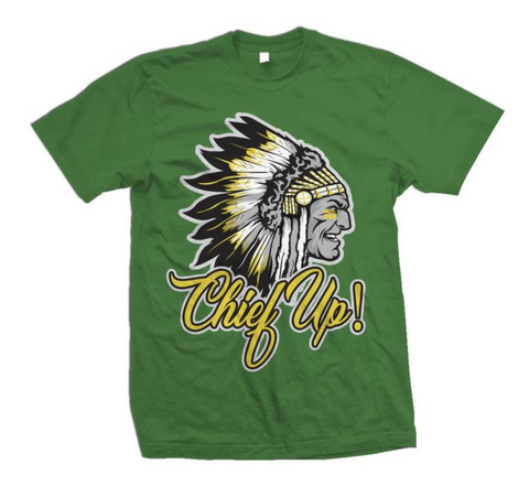 Million Dolla Motive 'Chief Up!' T-Shirt (Pine Green)