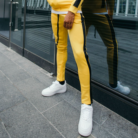 Rebel Minds Track Pants (Yellow/Black)