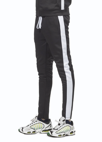 Rebel Minds Track Pants (Black/White)