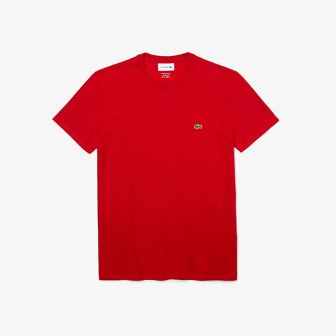 Lacoste Crew Neck Pima T-Shirt (Red)