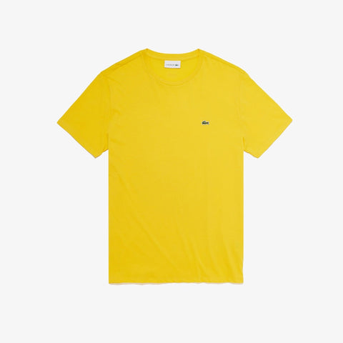 Lacoste Crew Neck Pima T-Shirt (Yellow)