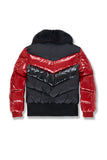 Jordan Craig 'Sugar Hill' Fur Puffer Jacket (Black/Red)