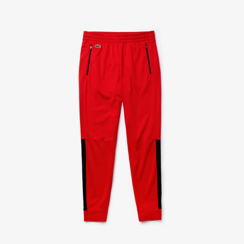 Lacoste SPORT Colorblock Tricot Sweatpants (Red)