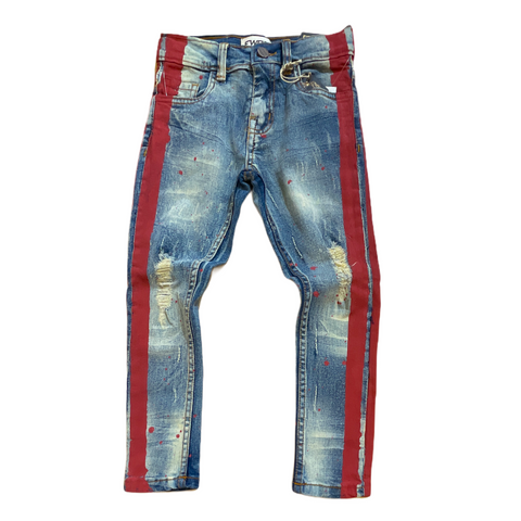 FWRD Kids Denim w/ Stripe (Lt.Tint/Red)