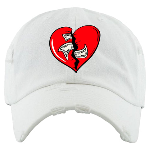 PG Apparel 'Heart Breaker' Hat (White/Red)