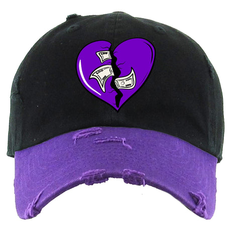 PG Apparel 'Heart Breaker' Hat (Black/Purple)