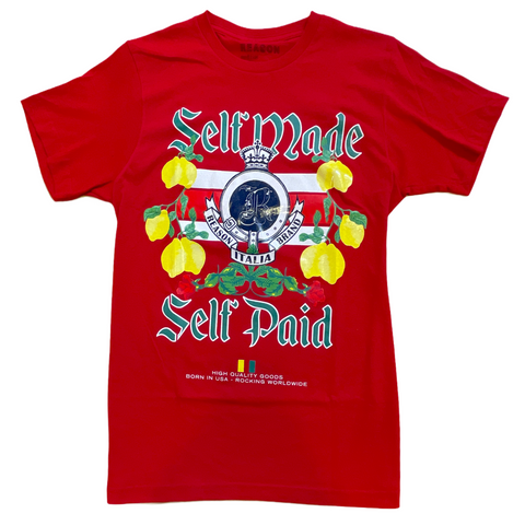 Reason 'Self Made, Self Paid' T-Shirt (Red)