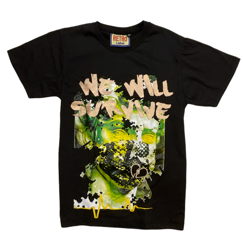 Retro Label We Will Survive Tee (Black)