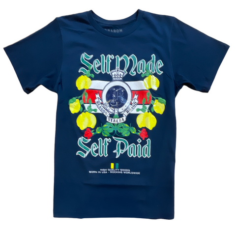 Reason 'Self Made, Self Paid' T-Shirt (Navy)
