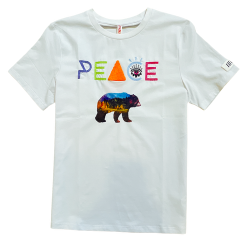 Fifth Loop 'Peace' T-Shirt (White)