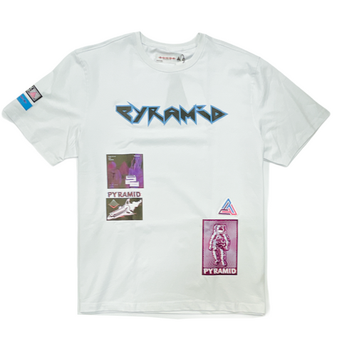 Black Pyramid 'Rocker' T-Shirt (White)
