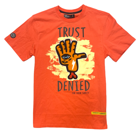 Offbeat 'Trust Denied' T-Shirt (Hot Coral)