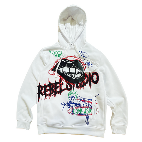 Rebel Minds Graffiti Hoodie (White)