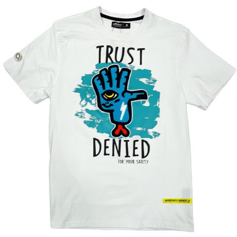 Offbeat 'Trust Denied' T-Shirt (White)