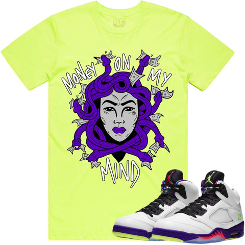 PG Apparel 'Money On My Mind' T-Shirt (Neon Yellow)