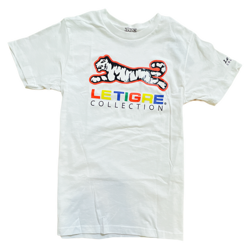Le Tigre Colorblock Logo T-Shirt (White)