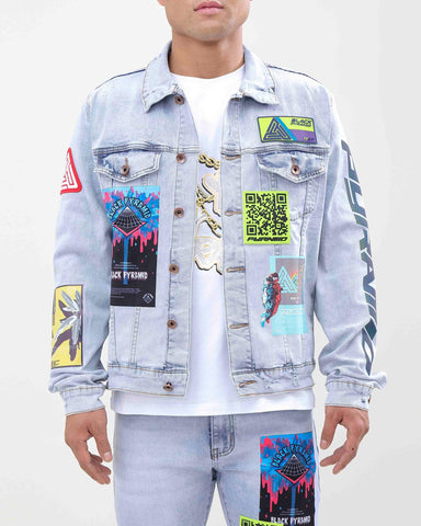 Black Pyramid Future Relic Denim Jacket Light Wash