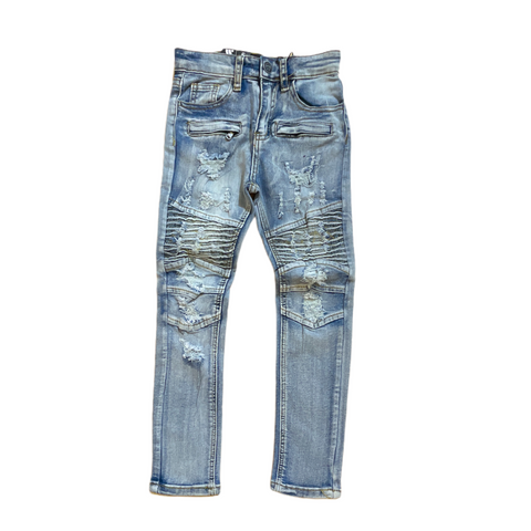 Waimea Kids Biker Denim (Lt. Indigo Brush)