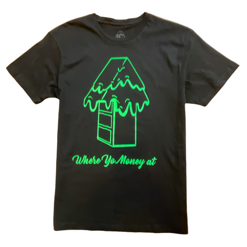 Caked Up Logo Tee (Black/Green)