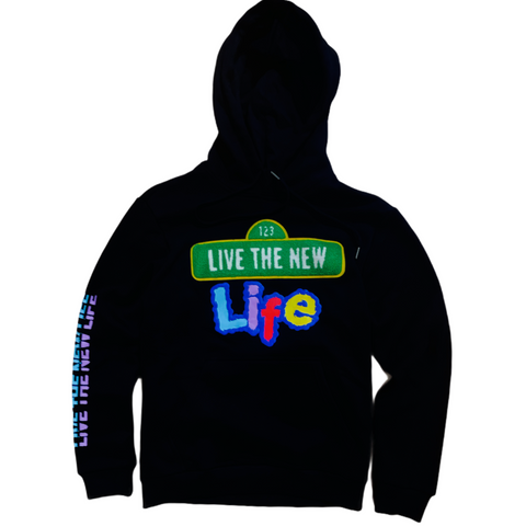 Camp 'Live The New Life' Hoodie (Black)