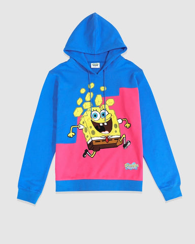 Freeze Max x Spongebob Color Block Hoodie (Blue)
