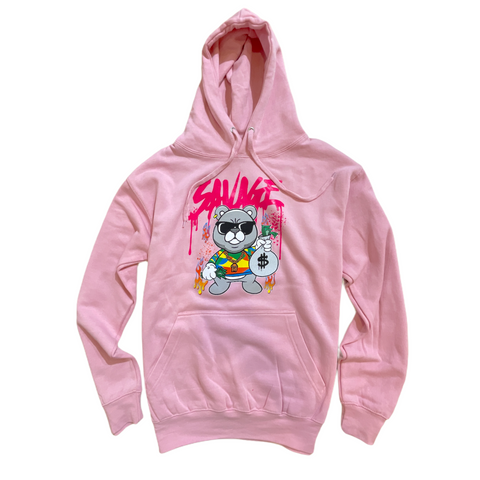 3Forty Inc. 'Savage Bear' Hoodie (Pink)
