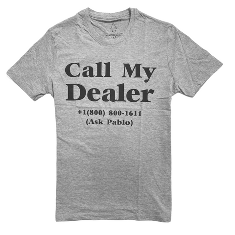 elevenparis 'Call My Dealer' T-Shirt (Grey)