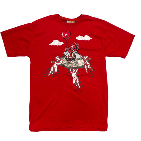 Retro Label Money Bear Tee (Red)