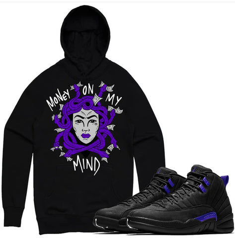PG Apparel 'Money On My Mind' Hoodie (Black/Purple)