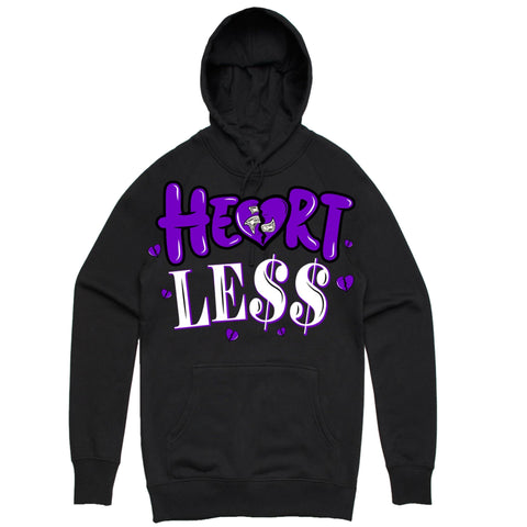 PG Apparel 'Heartle$$' Hoodie (Black/Purple)