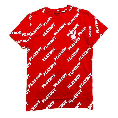 elevenparis x Playboy All Over Logo T-Shirt (Red)