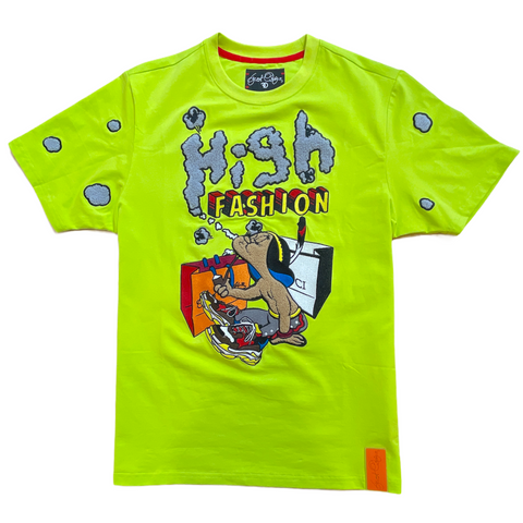 Frost Originals 'High Fashion' Chenille Patch T-Shirt (Lime)