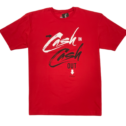Privileged Ones 'Cash In Cash Out' T-Shirt (Red)