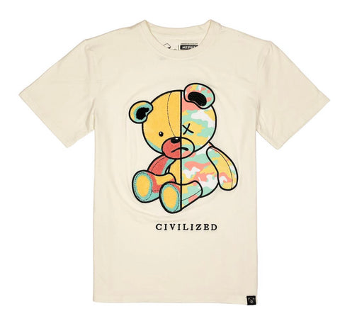 CIVILIZED CAMO BEAR NATURAL TEE